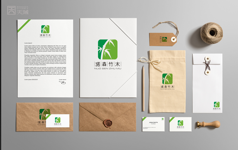 诺森竹木logo设计图片